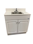Single Basin Self Contained Sink – Wood Cabinet -Model PSW-007M