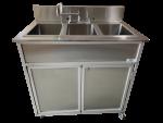 All Stainless Steel 3 Basin Utensil Washing Portable Sink  Model: NS-003SS