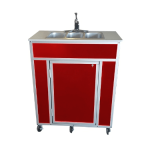 NSF Certified Three-Basin Utensil Washing Portable Self Contained Sink  Model: NS-009T