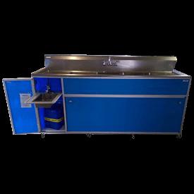 Commercial Four Deep Basin Portable Sink : PSE-2004LA