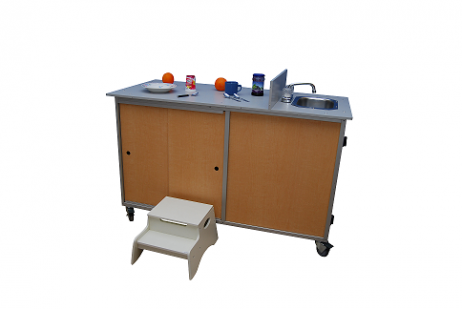 Food Preparation Cart with Portable Self Contained Sink : FPC-001